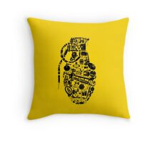BOOM! -black- Throw Pillow