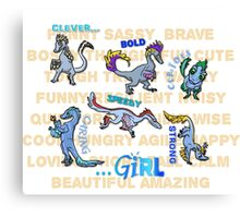 """Not Just Clever Girls"" Velociraptors Canvas Print"