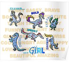 """Not Just Clever Girls"" Velociraptors Poster"