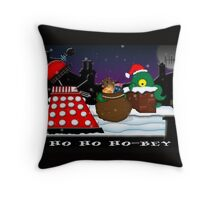 Ho ho ho-bey! Throw Pillow