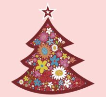 Spring Flowers Whimsical Christmas Tree Kids Clothes
