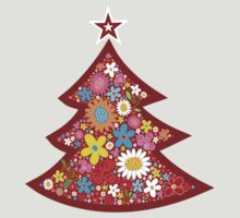 Spring Flowers Whimsical Christmas Tree by fatfatin