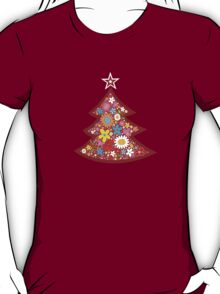Spring Flowers Whimsical Christmas Tree T-Shirt