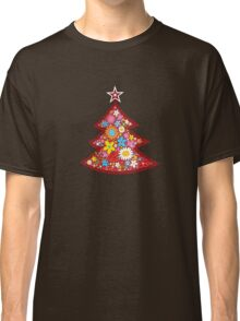 Spring Flowers Whimsical Christmas Tree Classic T-Shirt