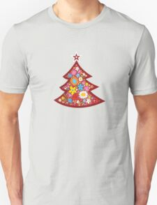 Spring Flowers Whimsical Christmas Tree Unisex T-Shirt