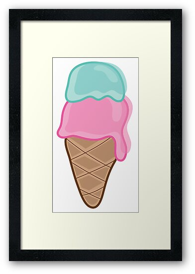 I Heart Retro Strawberry & Mint Ice-Cream by fatfatin