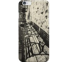 New York Benches and People Black and White iPhone Case/Skin