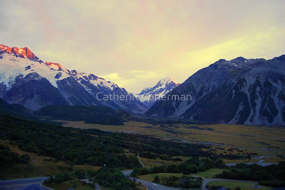 Aoraki Mount Cook at Sunrise by Catherine Sherman