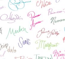 Disney Autographs Sticker