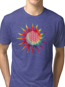 Flower of Life (tie-dye sun) Tri-blend T-Shirt