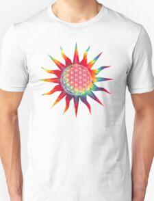 Flower of Life (tie-dye sun) Unisex T-Shirt
