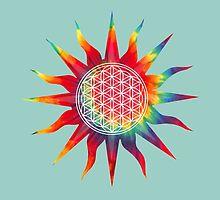 Flower of Life (tie-dye sun) by kzenabi