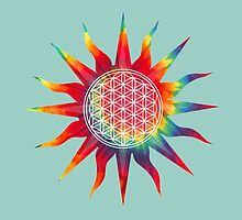 Flower of Life (tie-dye sun) by kzenabi