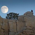 Moonrise Over Golden Eagle Rock by A.M. Ruttle