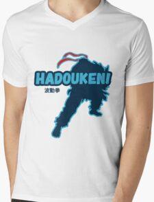 Street Fighter - Ryu - Hadoken Mens V-Neck T-Shirt
