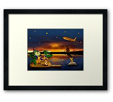 Cheese Land Framed Print