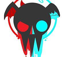 Spooky Skull by CrazyTigerLady