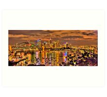 """""""Lights Camera Action"""" - Sydney Harbour - Moods Of A City - The HDR Experience Art Print"""