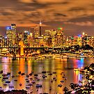 """Lights Camera Action"" - Sydney Harbour - Moods Of A City - The HDR Experience by Philip Johnson"