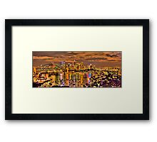"""Lights Camera Action"" - Sydney Harbour - Moods Of A City - The HDR Experience Framed Print"