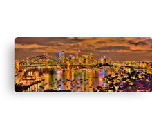 """Lights Camera Action"" - Sydney Harbour - Moods Of A City - The HDR Experience Canvas Print"