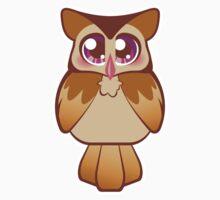 Cute Purple Night Owl Kids Tee