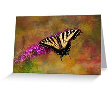 Tiger Swallowtail Butterfly on Butterfly Bush Greeting Card