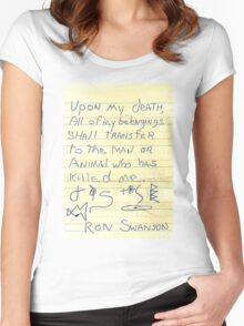 Ron Swanson's Will Women's Fitted Scoop T-Shirt