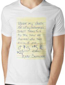 Ron Swanson's Will Mens V-Neck T-Shirt