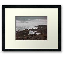 Rough Seas - Newquay- Cornwall Framed Print