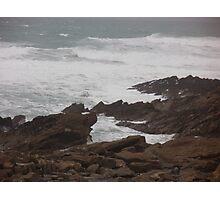 Rough Seas - Newquay- Cornwall Photographic Print