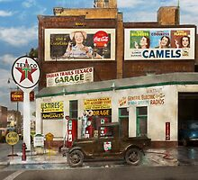 Gas Station - Benton Harbor MI - Indian Trails gas station 1940 by Mike  Savad