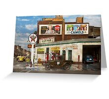 Gas Station - Benton Harbor MI - Indian Trails gas station 1940 Greeting Card