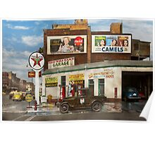 Gas Station - Benton Harbor MI - Indian Trails gas station 1940 Poster