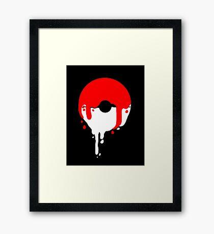 Pokeball Melt Framed Print