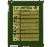 Zombie Defense Guide iPad Case/Skin