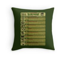 Zombie Defense Guide Throw Pillow
