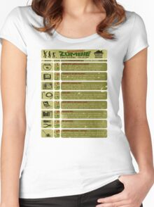 Zombie Defense Guide Women's Fitted Scoop T-Shirt