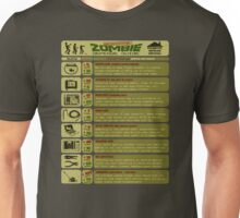 Zombie Defense Guide Unisex T-Shirt