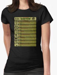 Zombie Defense Guide Womens Fitted T-Shirt