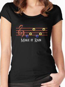 Legend of Zelda Make it Rain Women's Fitted Scoop T-Shirt