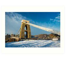 Clifton Suspension Bridge in WInter Art Print