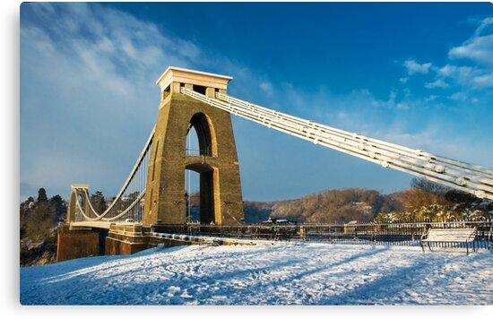 Clifton Suspension Bridge in WInter by Alan Watt
