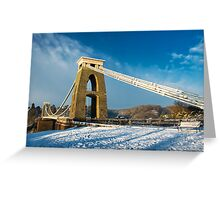 Clifton Suspension Bridge in WInter Greeting Card