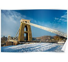 Clifton Suspension Bridge in WInter Poster