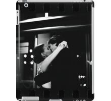 Bride and groom kissing in wedding sepia 35mm film negative strip iPad Case/Skin