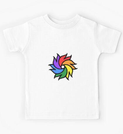 Rainbow Pride Pinwheel Kids Tee