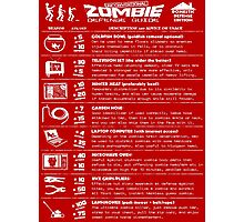 Zombie Defense Guide -white- Photographic Print