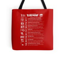 Zombie Defense Guide -white- Tote Bag