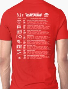 Zombie Defense Guide -white- Unisex T-Shirt